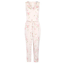 Buy Ghost Sleeveless Embroidered Jumpsuit, Vintage Pink Online at johnlewis.com