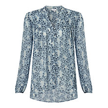 Buy Ghost Printed Blouse, Blue Online at johnlewis.com