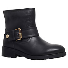 Buy Kurt Geiger Shadow Leather Ankle Boots, Black Online at johnlewis.com