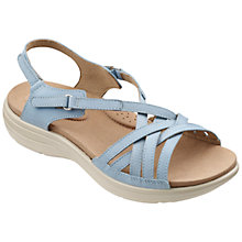 Buy Hotter Maisie Sandals, Blue Mist Online at johnlewis.com