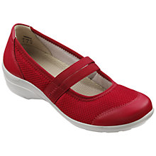 Buy Hotter Tranquil Textile and Leather Flat Court Shoes Online at johnlewis.com