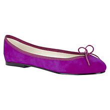 Buy French Sole India Leather Pumps, Purple Online at johnlewis.com