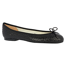 Buy French Sole Henrietta Leather Pumps, Black Woven Online at johnlewis.com