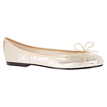 Buy French Sole India Leather Pumps, Gold Snake Online at johnlewis.com