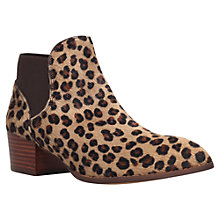 Buy KG by Kurt Geiger Sport Faux Pony Ankle Boots, Tan Online at johnlewis.com