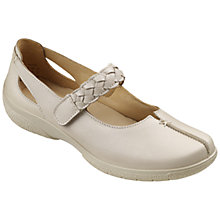 Buy Hotter Shake Leather Shoes, Soft Beige Online at johnlewis.com