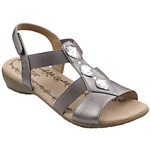 Buy Hotter Savannah Leather Diamante Embellished Sandals Online at johnlewis.com