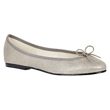 Buy French Sole India Leather Pumps, Silver Shimmer Online at johnlewis.com