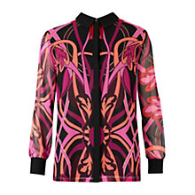 Buy Ted Baker Linear Jewel Shirt, Deep Purple Online at johnlewis.com