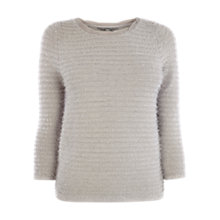 Buy Coast Rollinson Knit Top, Silver Online at johnlewis.com