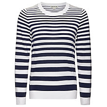 Buy Whistles Striped Size Zip Knit Jumper, Blue/Multi Online at johnlewis.com