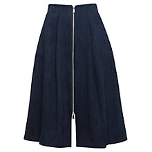 Buy Whistles Zip Through Skirt, Dark Denim Online at johnlewis.com