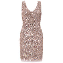 Buy Aidan Mattox Double-V Cocktail Dress, Rose Gold Online at johnlewis.com