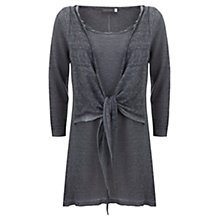 Buy Mint Velvet Tie Front Tunic Top Online at johnlewis.com