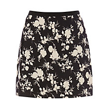 Buy Oasis Shadow Rose Mini Skirt, Black / White Online at johnlewis.com