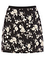 Oasis Shadow Rose Mini Skirt, Black / White