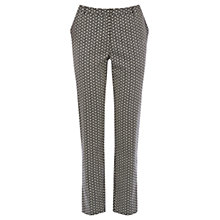 Buy Oasis Flower Geo Print Trousers, Multi Black Online at johnlewis.com