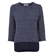 Buy Oasis Knit Jumper, Navy Online at johnlewis.com
