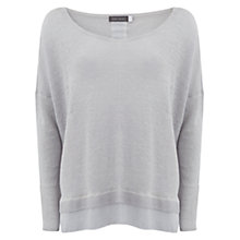 Buy Mint Velvet Overdye Boxy Linen Jumper, Dove Online at johnlewis.com