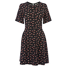 Buy Oasis Swallow Print Dress, Multi Black Online at johnlewis.com