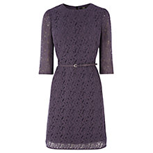 Buy Oasis Lace A Line Shift Dress, Mid Grey Online at johnlewis.com