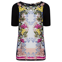 Buy Oasis Mirror Floral T-Shirt, Multi Online at johnlewis.com