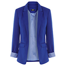Buy Oasis Ponte Jacket, Mid Blue Online at johnlewis.com