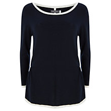 Buy Mint Velvet Tipped Jumper, Navy / Ivory Online at johnlewis.com