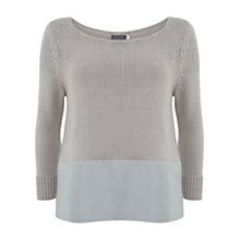 Buy Mint Velvet Mineral Border Knit Jumper, Neutral Online at johnlewis.com