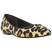 Buy Dune Amarie Pony Flat Pumps, Leopard Online at johnlewis.com