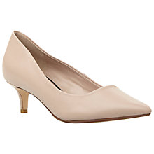 Buy Dune Annielou Pointed Court Shoes, Blush Leather Online at johnlewis.com