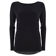 Buy Mint Velvet Zip Back Jumper, Navy Online at johnlewis.com