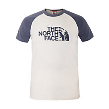 Buy The North Face Logo Print Raglan T-Shirt, White Online at johnlewis.com