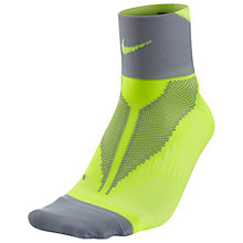 Buy Nike Elite Lightweight Quarter Running Socks, Volt Online at johnlewis.com