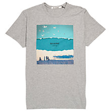 Buy Ben Sherman Brighton Print T-Shirt, Oxford Marl Online at johnlewis.com
