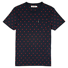 Buy Ben Sherman Umbrella Print Short Sleeve T-Shirt, Navy Blazer Online at johnlewis.com