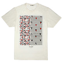Buy Ben Sherman Bunting Print T-Shirt, Off White Online at johnlewis.com