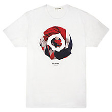 Buy Ben Sherman Union Jack Printed T-Shirt, Bright White Online at johnlewis.com
