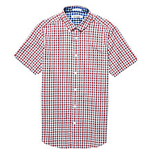 Buy Ben Sherman Short Sleeve Gingham Shirt, Red/Blue Online at johnlewis.com