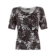 Buy Mint Velvet Mira Print Knit Top, Black / Ivory Online at johnlewis.com