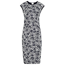 Buy Reiss Ralli Lace Bodycon Dress, Navy / Cream Online at johnlewis.com