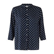 Buy Jigsaw Iris Print Shirt, Navy Online at johnlewis.com