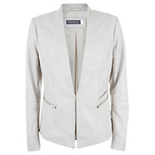 Buy Mint Velvet Leather Blazer, Stone Online at johnlewis.com