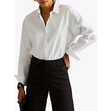 Buy Jigsaw Cotton Blend Shirt, White Online at johnlewis.com