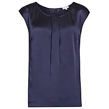 Buy Reiss Leigh Silk Top, French Navy Online at johnlewis.com