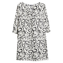 Buy Mango Floral Lightweight Dress, Black Online at johnlewis.com