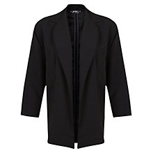 Buy Miss Selfridge Petite Duster Jacket, Black Online at johnlewis.com