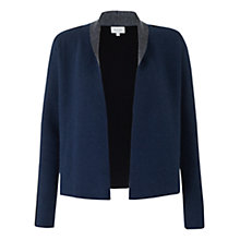 Buy Jigsaw Colour Block Open Cardigan, Navy Online at johnlewis.com