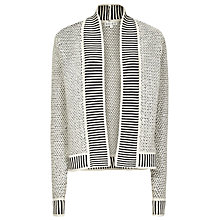 Buy Reiss Nixon Knitted Cardigan, Navy / Cream Online at johnlewis.com