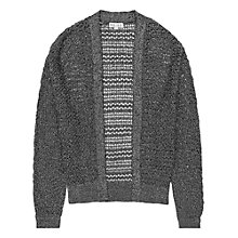 Buy Reiss Honori Lurex Cardigan, Black / Silver Online at johnlewis.com